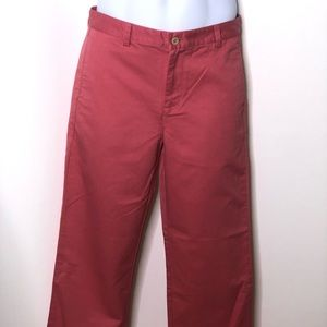 Vineyard Vines boys club pants jetty red sz 18